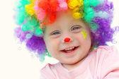 Baby i clown kostym — Stockfoto