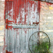 Rustic Old Barn Door — Stock Photo