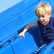 Child Sliding at Playground — Stock Photo