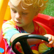 Child Driving Toy Car — Stock Photo