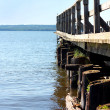 Small Pier on Lake — Stock Photo