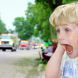 Child Covering Ears at Loud Parade — Stock Photo #31656365
