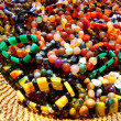 Colorful Beads in Woven Basket — Stock Photo #31658007