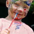 Baby Painting His Face — Stock Photo #31658133