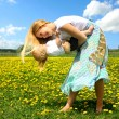 Mother and Baby Dancing Outside — Stock Photo
