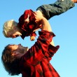 Father Lifting Son in Air — Stock Photo #31659909