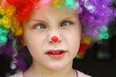 Crazy Clown Kid — Stock Photo
