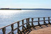 Old Pier on A Glistening Lake — Stock Photo