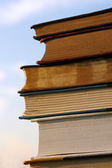 Stack of Books in front of Sky — Stock Photo