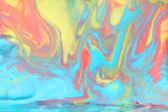 Melted Rainbow Ice Cream Background — Stock Photo