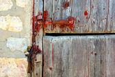Portion of Wooden Barn Door — Stock Photo