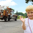 Cute Child at Parade — Stock Photo