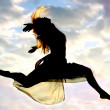 Woman Leaping through the Air — Stock Photo #31662457