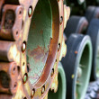 Stock Photo: Close Up on Army Tanker Wheel