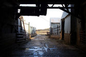 Inside Old Barn Corral Border — Stock Photo