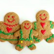 Christmas Gingerbread Family — Stock Photo