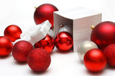 Gift Box Filled with Christmas Ornaments — Stock Photo