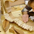 Luthier Building Guitar in Workshop — Foto Stock #35937543