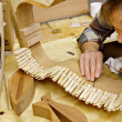 Luthier Building Guitar in Workshop — Photo #35937543