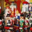 Collection of Colorful Toy Christmas Nutcrackers — Stock Photo