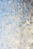 Frosted Winter Window Glass Background — Stock Photo