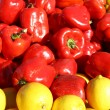 Peppers and Lemons at Farmer's Market — Stock Photo #39947469