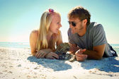 Happy Couple in Love at Beach — Stock Photo