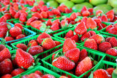 Strawberries at Farmer's Market — Stock Photo