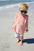 Smiling Young Child on Beach — Stock Photo