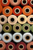 Colorful Rainbow Thread Vintage Yarn Spool Collection — Stock Photo
