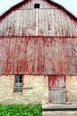 Towering Facade of a Historic Old German Style Bank Barn — Stock Photo