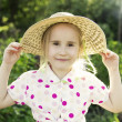Young girl in the garden — Stockfoto