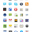 Foto Stock: Android icon set