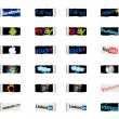 Foto Stock: Social networks and internet technology logos