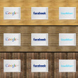 Foto de Stock  : Social network on photo frame