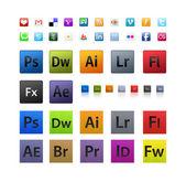 Adobe icons set — Stock Photo