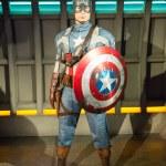 The statue of Captain America — Stock Photo
