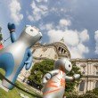 Stock Photo: The London 2012 Olympics games mascot, Wenlock and Mandeville