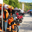 Exhibition stands motorcycling event — Stock Photo #25055457
