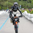 Постер, плакат: Sports performance of a supermotard race