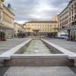 Square Vittorio Veneto in Trieste, Italy — Stock Photo