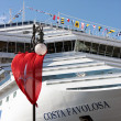 Inauguration of the cruise ship Costa Favolosa — Stock Photo