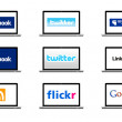 Stock Photo: Social network logos