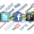 Foto Stock: Logos of most important social networks