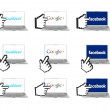 Foto Stock: Most popular social network