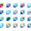 Buttons of social technology - Stock Photo