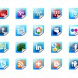 Foto Stock: Buttons of social technology