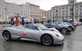 International rally of super sports cars in Trieste, Italy — Stock Photo