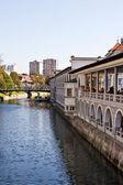River in Ljubljana — Stock Photo