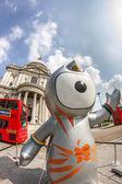 The London 2012 Olympics games mascot, Wenlock — Stock Photo